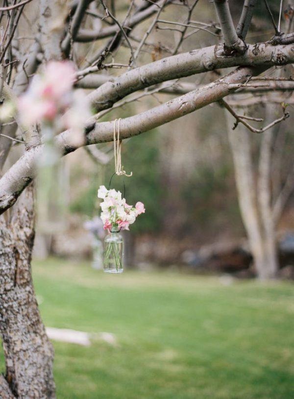winter weddings hanging tea light holders