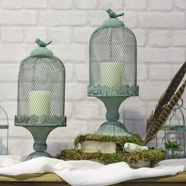 10 Ways To Include Birds And Birdcages At Your Wedding available to buy online from @theweddingomd mint_green_footed_birdcage_centrepiece_1_1024x1024