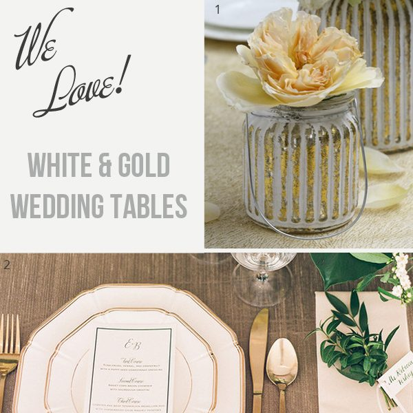 White and Gold Wedding Tables