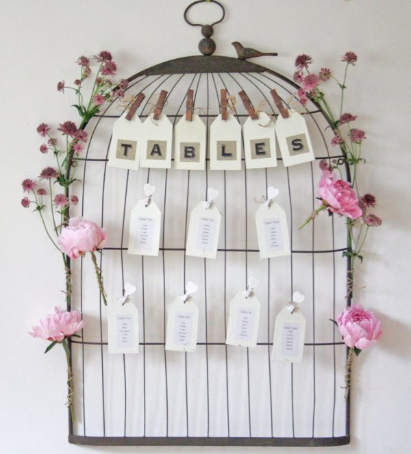 10 Ways To Include Birds And Birdcages At Your Wedding available to buy online from @theweddingomd birdcage_wedding_table_plan_1_1024x1024