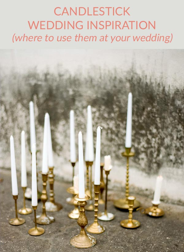 brass candlesticks wedding ideas