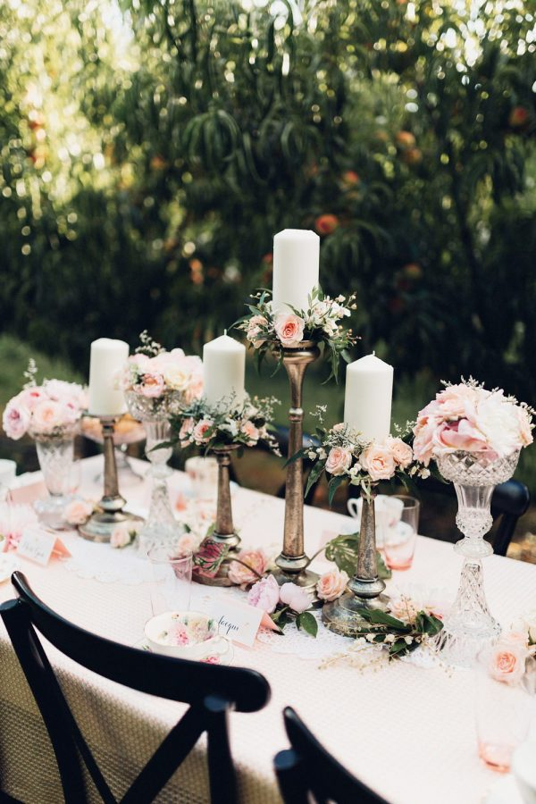bronze candlesticks wedding tables