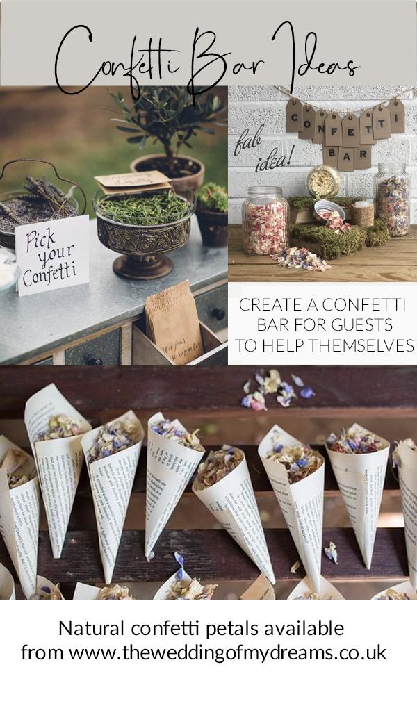confetti bar ideas wedding confetti station
