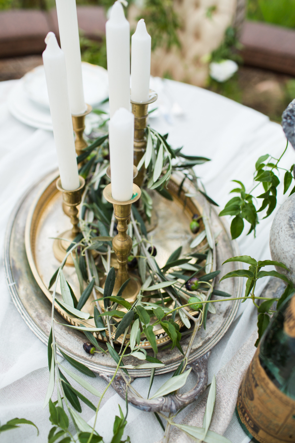 gold candle sticks wedding centrepieces