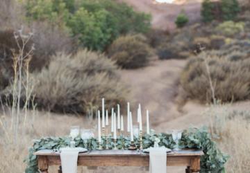 gold candlesticks wedding