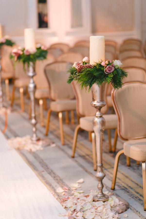 tall candlestick wedding ceremony aisle decorations
