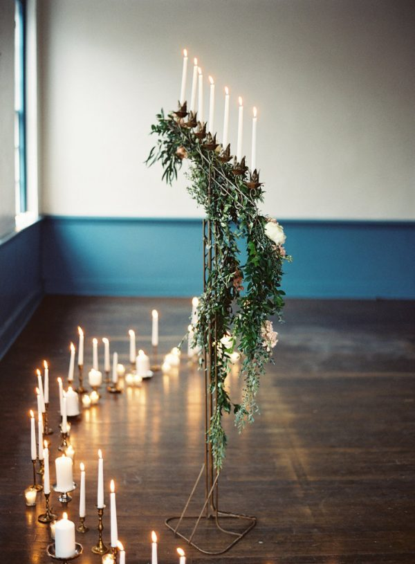 tall candlestick wedding ceremony decorations