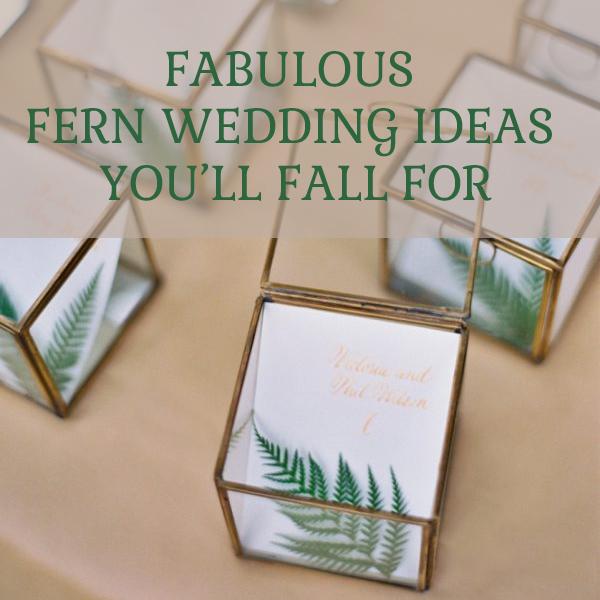 Fabulous fern wedding ideas you'll fall for by @theweddingomd