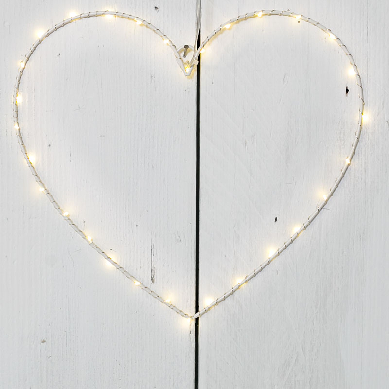 Heart Wreath with LED Lights wedding cake backdrop