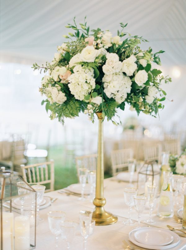 Wedding Centrepiece Gold Tall