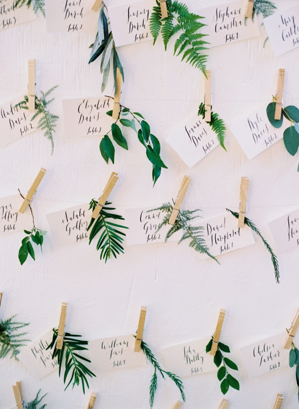 Fabulous fern wedding ideas - wedding table plans