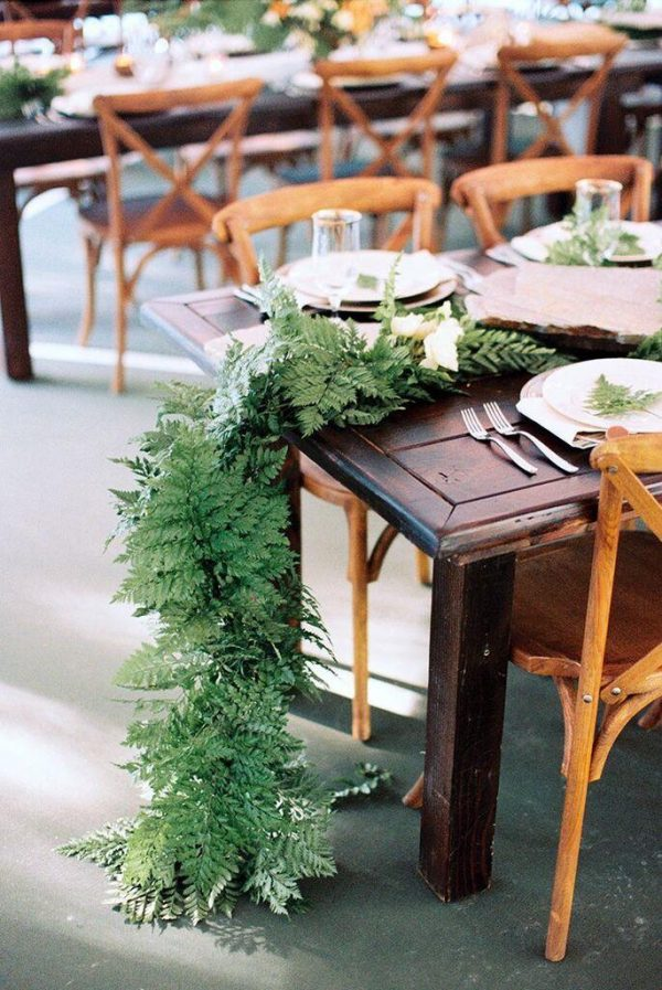 Fabulous fern wedding ideas - wedding table garlands