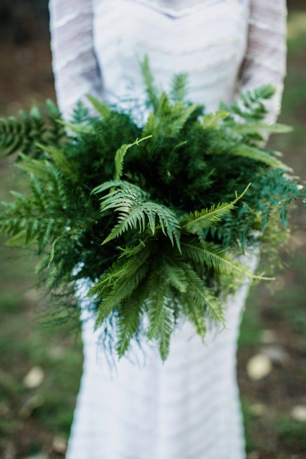 Fabulous fern wedding ideas - green fern foliage bouquet