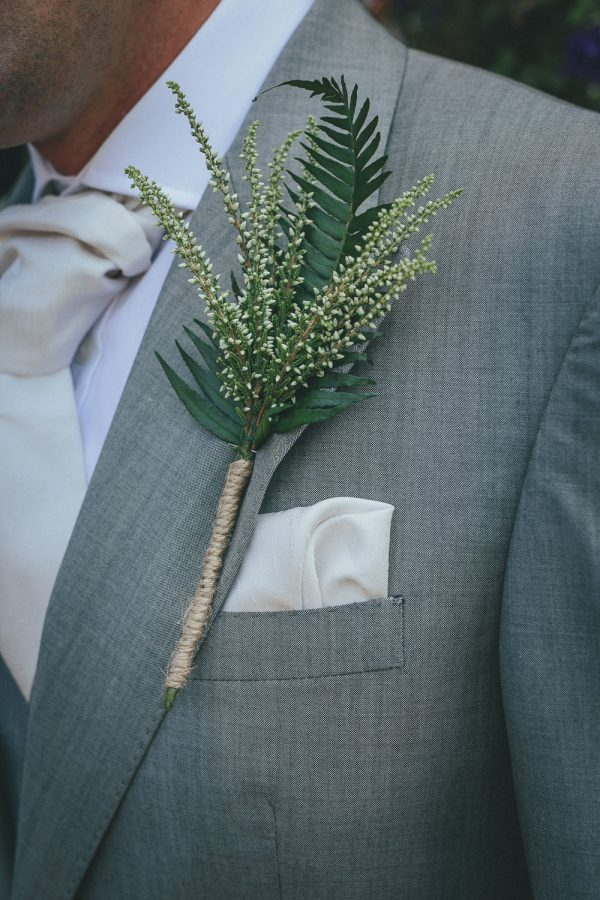 Fabulous fern wedding ideas - button holes