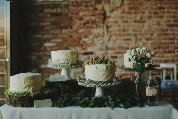 How To Create A Rustic Dessert Table Ruffled - photo by http://www.philchester.com/ - http://ruffledblog.com/project-gallery-wedding/