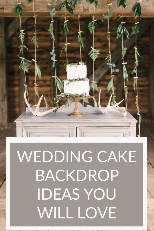 rustic wedding cake backdrops ideas