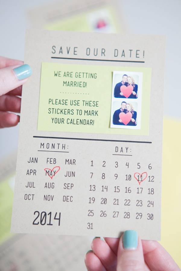 somethingturquoise.com:2014:01:07:diy-instagram-save-the-dates-2:10 Creative Save The Date Ideas
