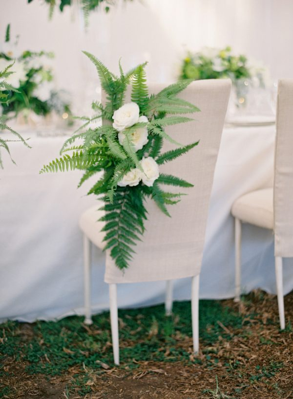 Fabulous fern wedding ideas - wedding chair decorations