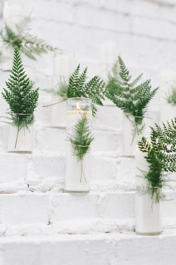 Fabulous fern wedding ideas - wedding candles