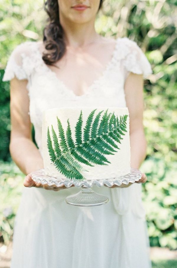 Fabulous fern wedding ideas - wedding cakes