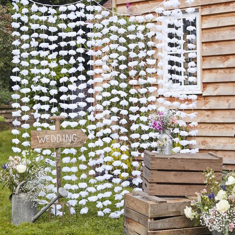 wedding backdrop flower curtain