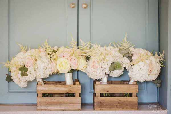 Real Weddings Using Our Small Wooden Crates View More: http://gemmawilliamsphotography.pass.us/charlottebrad2016