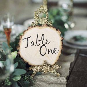 Rustic Elegant Wedding Ideas - Tree Slice and Escort Card Ideas