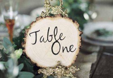 Rustic Elegant Wedding Ideas - Tree Slice and Escort Card Ideas