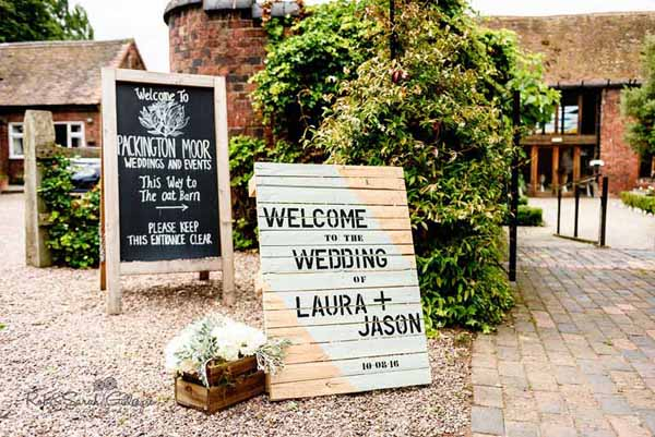 Real Weddings Using Our Small Wooden Crates Wedding Entrance Signs with small wooden crate box available from @theweddingomd Rob & Sarah Gillespie Photo