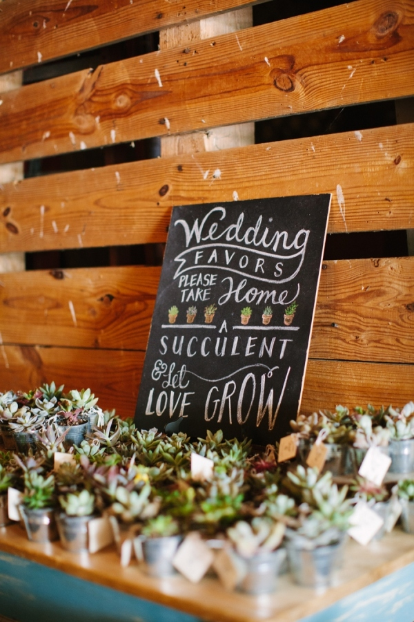 Let Love Grow Wedding Favours - Perfect For A Spring Wedding stylemepretty.com - annarouthphoto.com