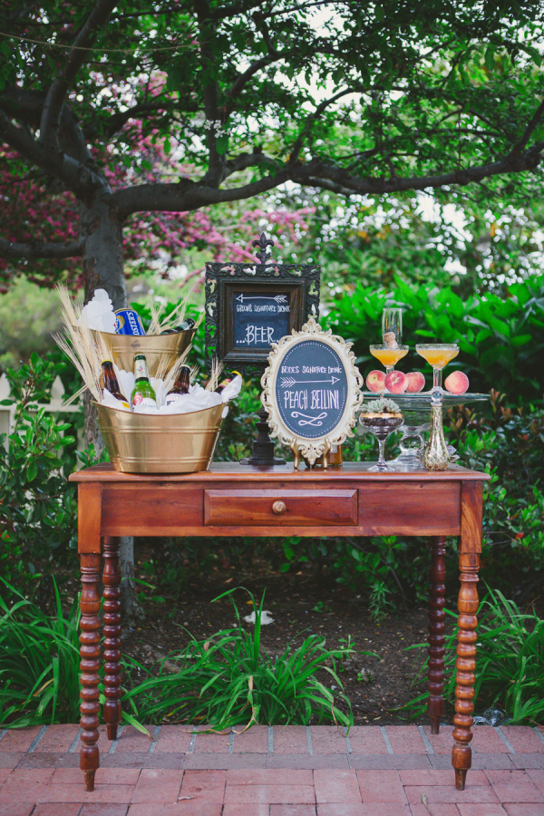 Spring Wedding Drink Station Inspiration stylemepretty.com - closertolovephotography.com