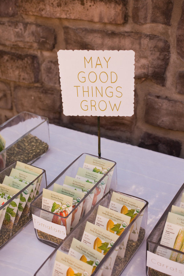 Let Love Grow Wedding Favours - Perfect For A Spring Wedding stylemepretty.com - jessamynharris.com