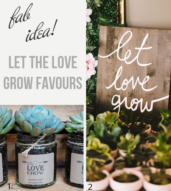 Let Love Grow Wedding Favours - Perfect For A Spring Wedding available to buy online from @theweddingomd