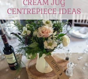 Cream jug wedding cetrepiece ideas