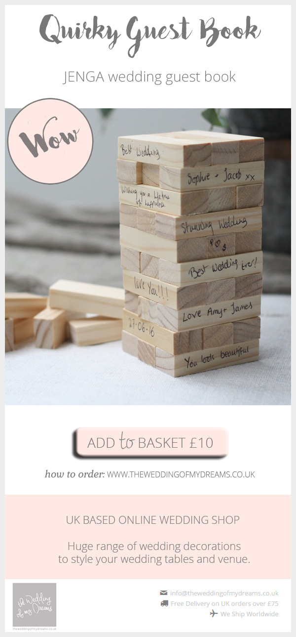 Jenga wedding guest book alternative available from @theweddingomd
