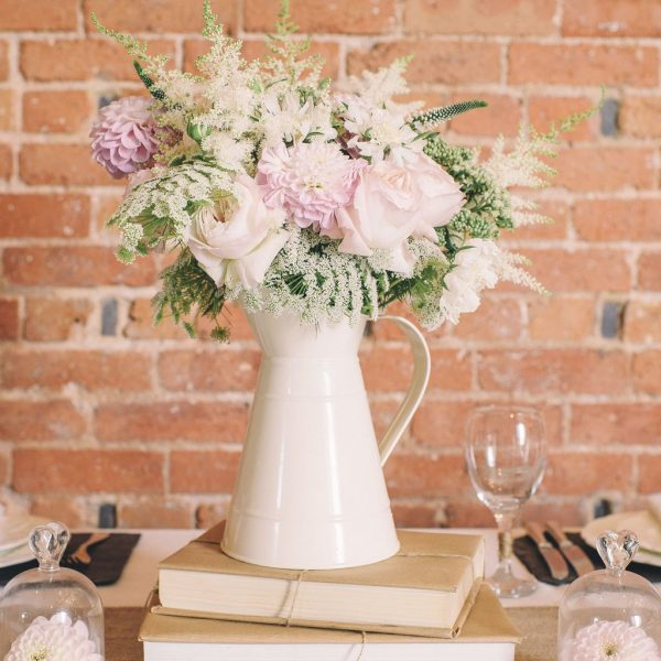 Cream Jug Centrepiece Inspiration & Ideas available to buy online from @theweddingomd