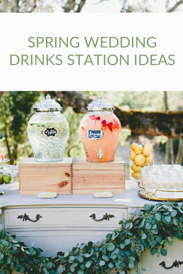 spring-wedding-drinks-station-ideas