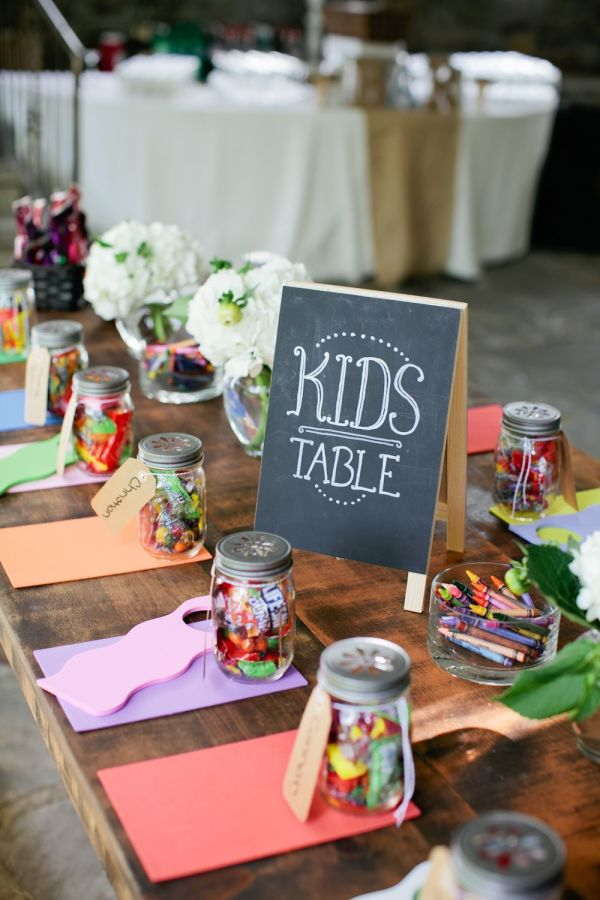 Ideas For Children's Tables At Weddings stylemepretty.com - kristynhogan.com
