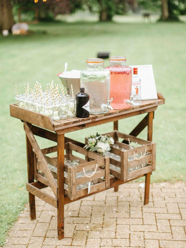 wedding bar cart drinks stations