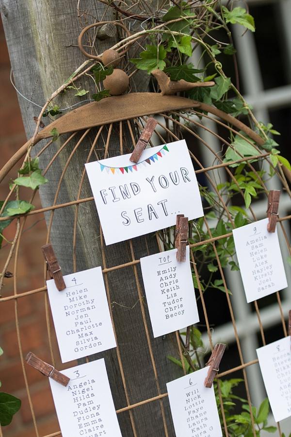 wedding table plan birdcage spring