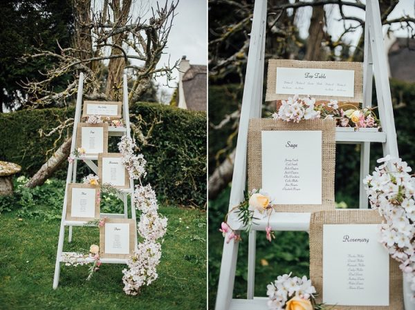 wedding table plan ladders spring