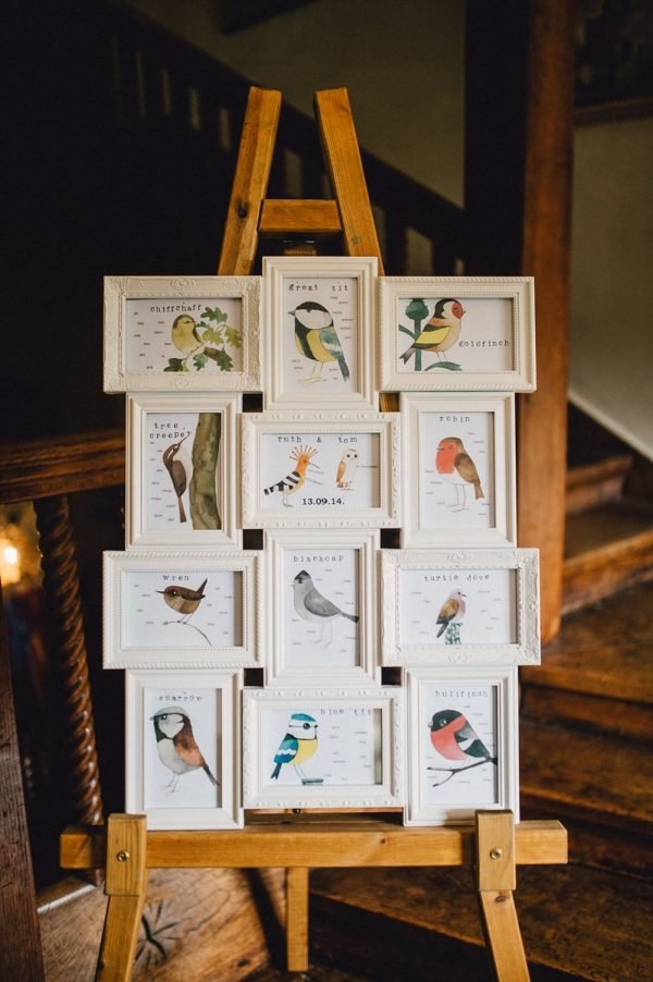 wedding table plan multi photo frame spring
