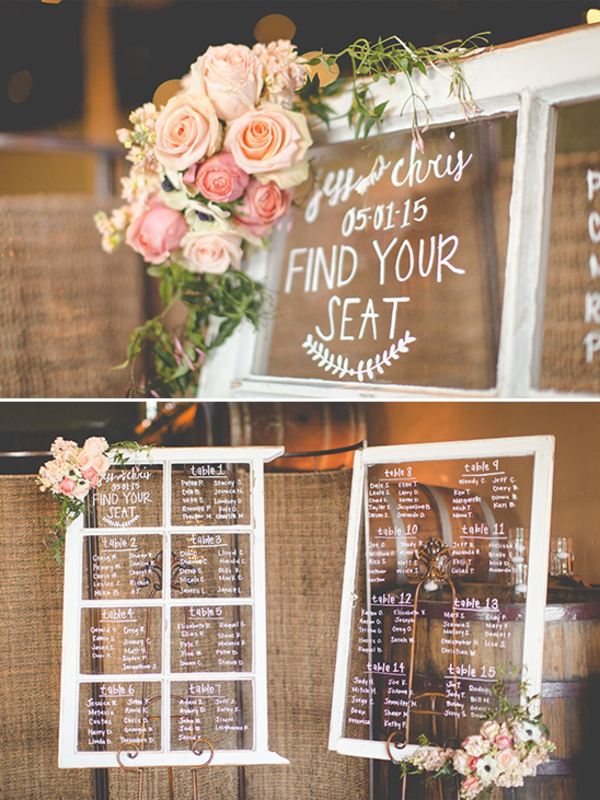 wedding table plan window spring