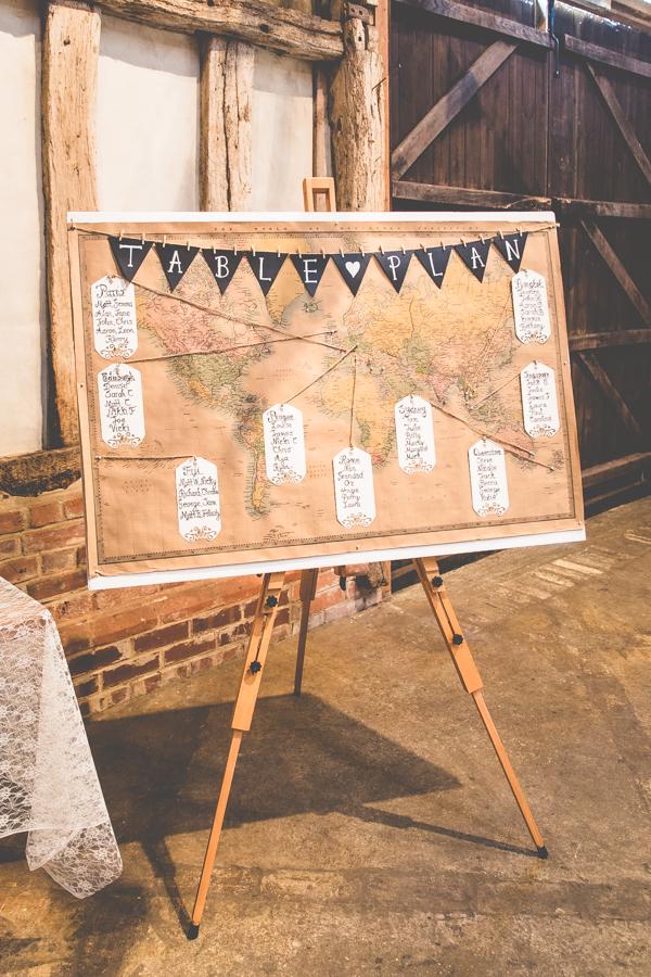 wedding table plan world map spring