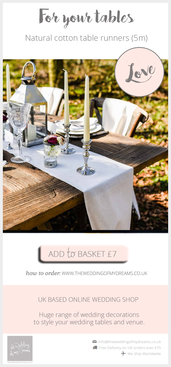 Natural cotton table runners available from @theweddingomd.jpg