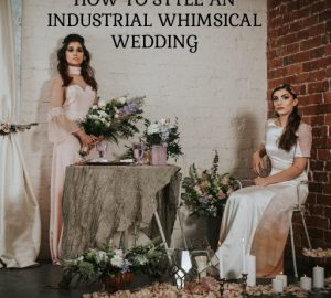 SQUARE Industrial whimsical wedding styling from the wedding of my dreams terrariums grey table cloths copper candle sticks (6)