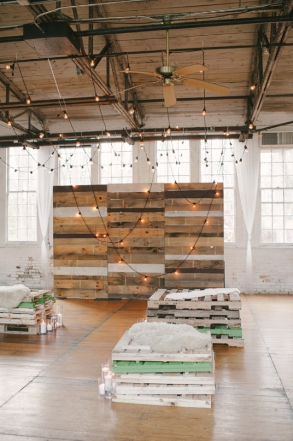 15 Wooden Pallet Wedding Ideas weddingchicks.com - brookeallisonphoto.com