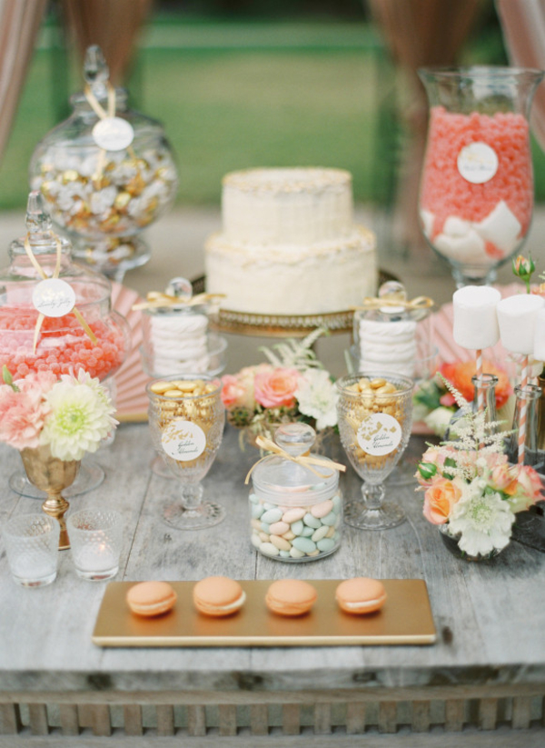 Summer Wedding Dessert Tables - Ideas and Inspiration weddingsparrow.com - peachesandmint.com1
