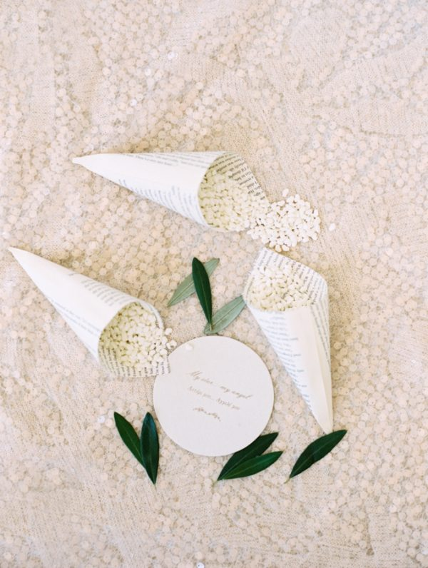Olive Wedding Confetti and Decoration Ideas stylemepretty.com - abbyjiu.com