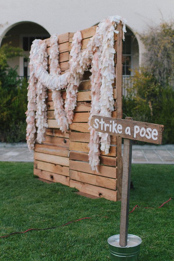 15 Wooden Pallet Wedding Ideas stylemepretty.com - jakeandnecia.com